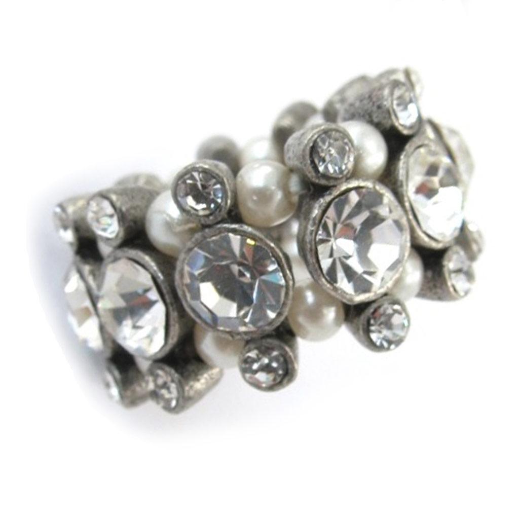 Bague \'Diamonds\' Blanc  - [E5133]
