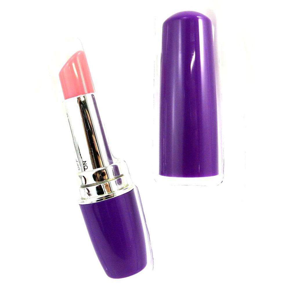 Vibromasseur \'Rouge à Lèvres\' violet - [M1587]