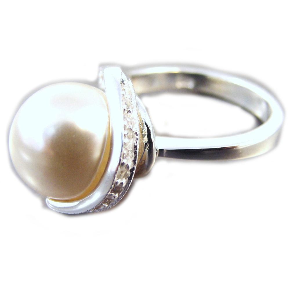 Bague Argent \'Pearl Beauty\' Blanc - [G1814]
