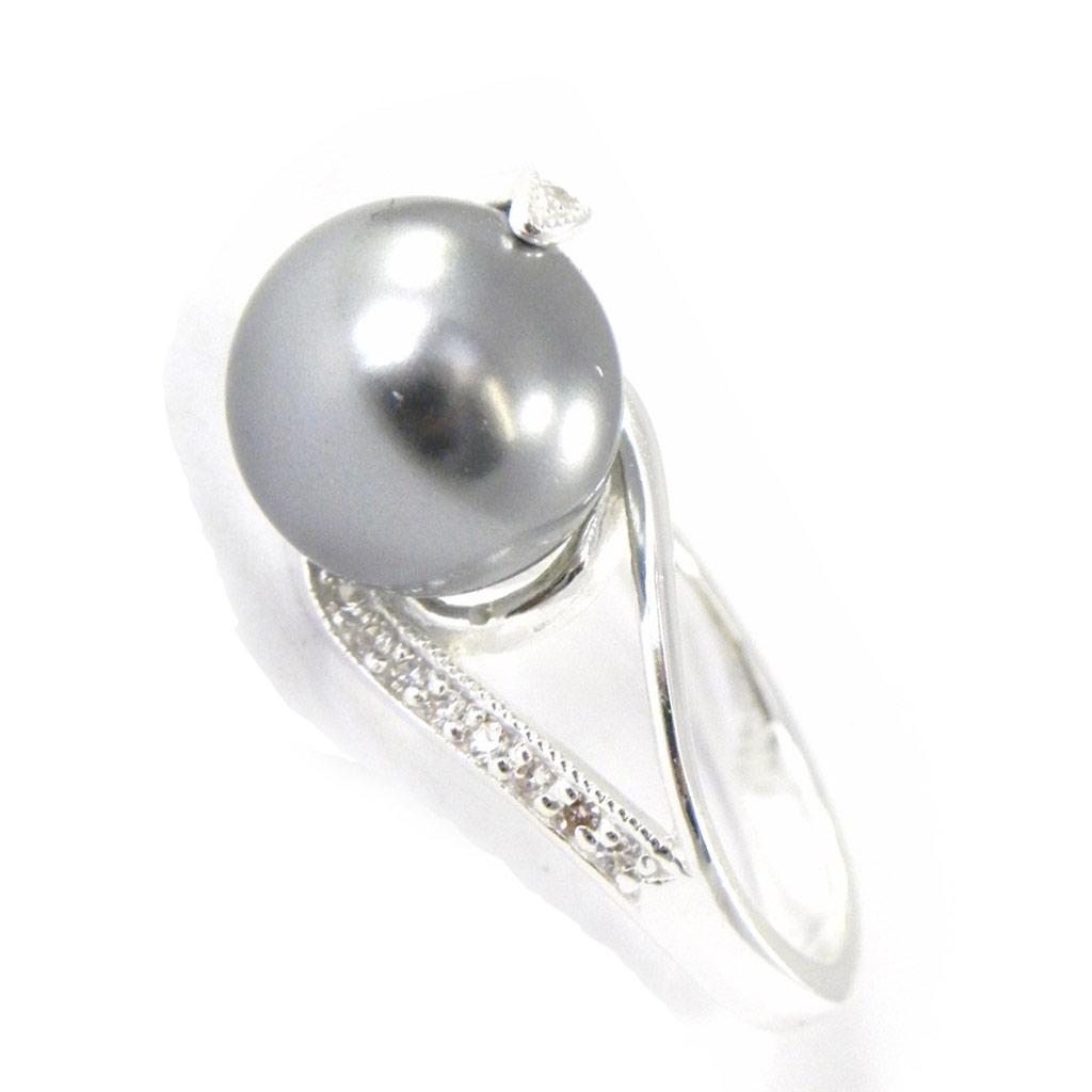 Bague Argent \'Pearl Beauty\' gris - [G1816]