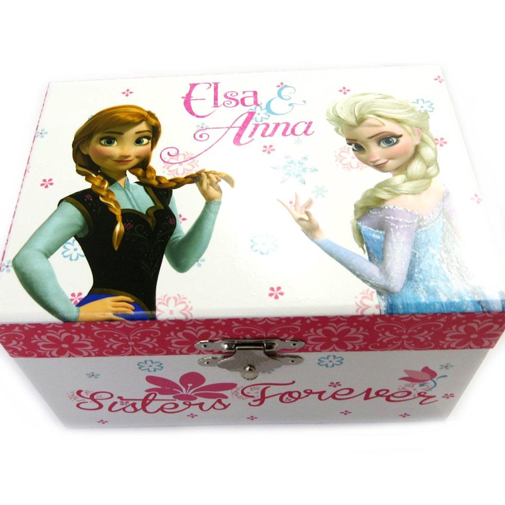 Coffret à Bijoux \'Frozen - Reine des Neiges\' blanc rose - [M1664]