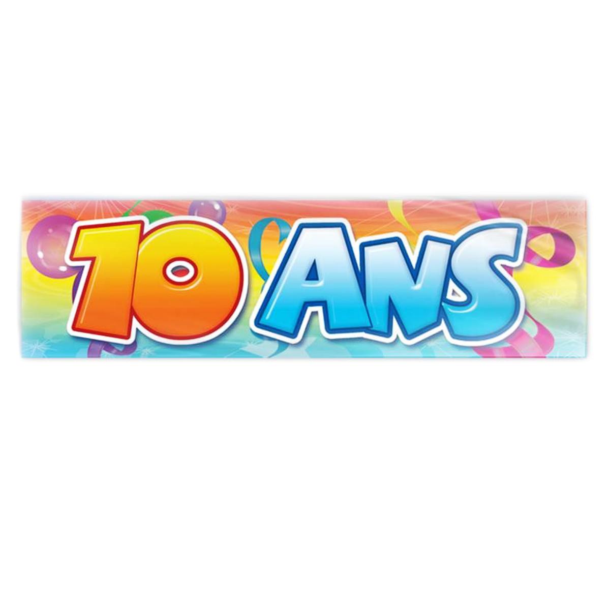 Banderole \'10 ans\' tutti frutti (32 m) - [M1665]
