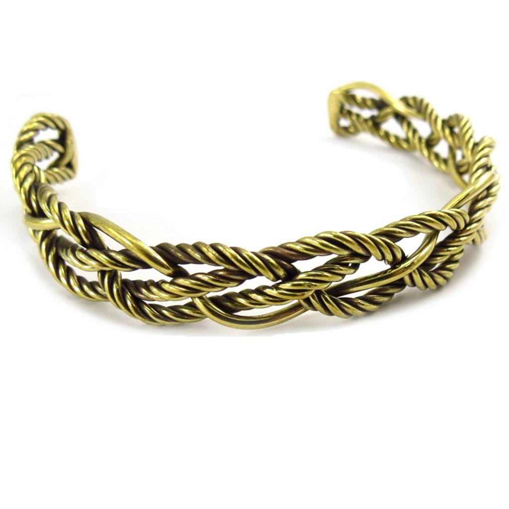 Bracelet \'Chorégraphie\' doré vieilli  - [K1516]
