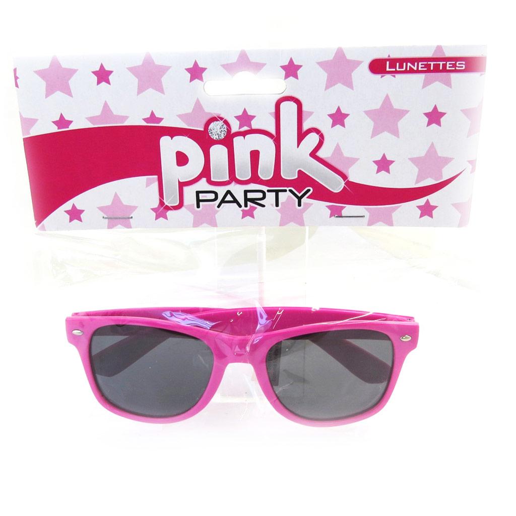 Lunettes de fête \'Coloriage\' rose (pink party) - [M1677]