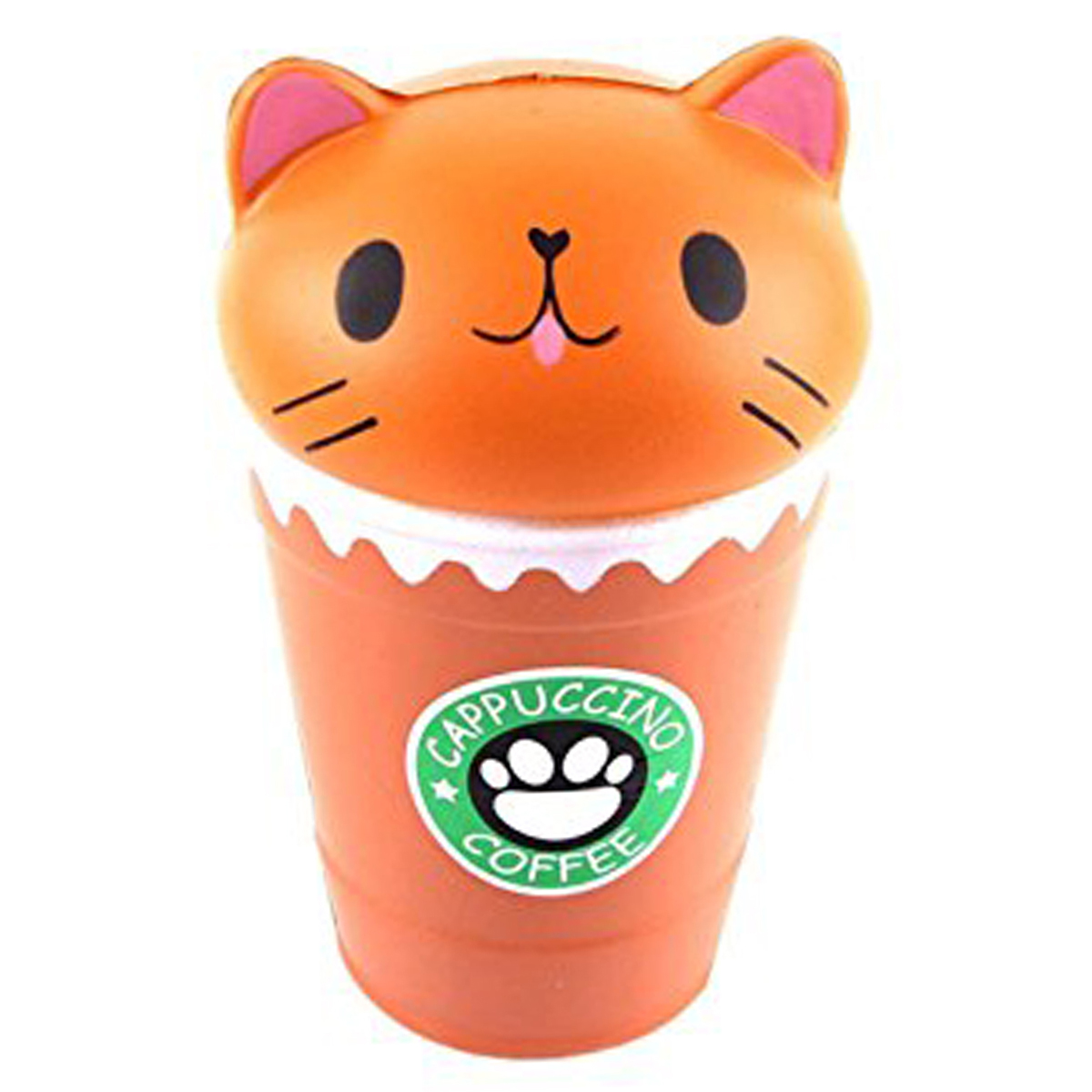 Anti-stress 3D squichy \'Coffee Cat\' orange - 135x75 cm - [R0545]