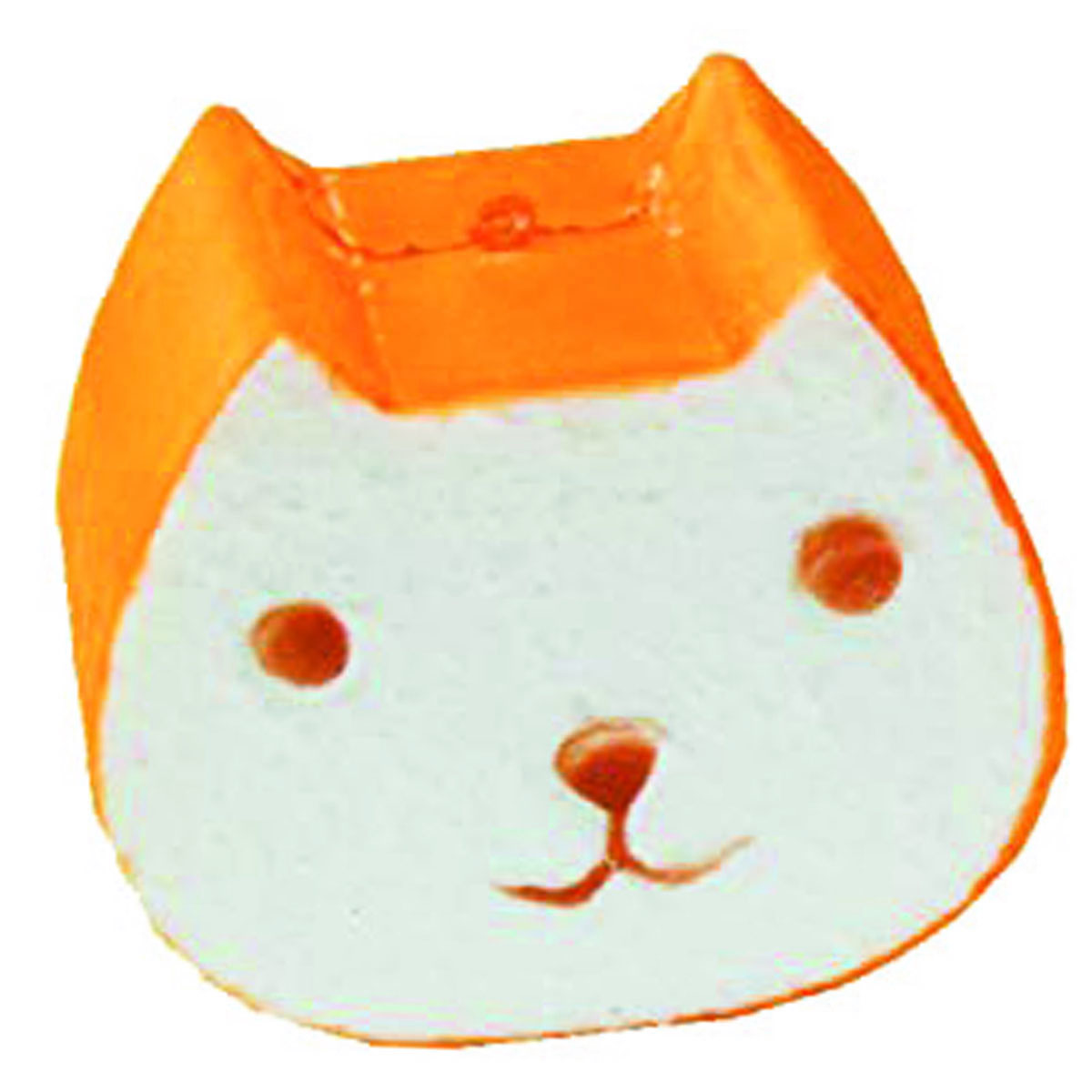 Anti-stress 3D squichy \'Chat Tartine\' orange blanc - 95x8x56 cm - [R0546]
