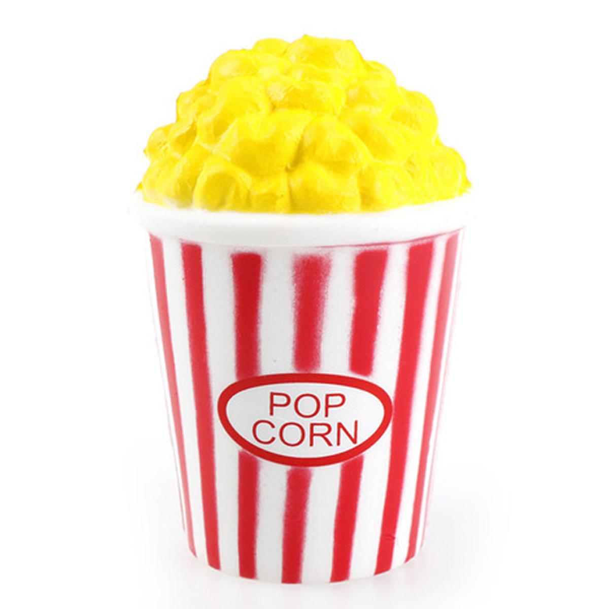 Anti-stress 3D squichy \'Pop Corn\' jaune rouge - 12x8 cm - [R0547]