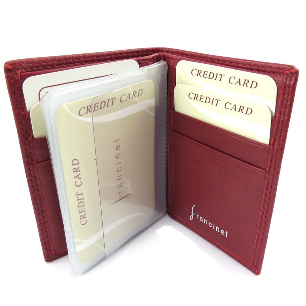 Porte-cartes cuir \'Del Arte\' rouge - 105x75 cm - [K1545]