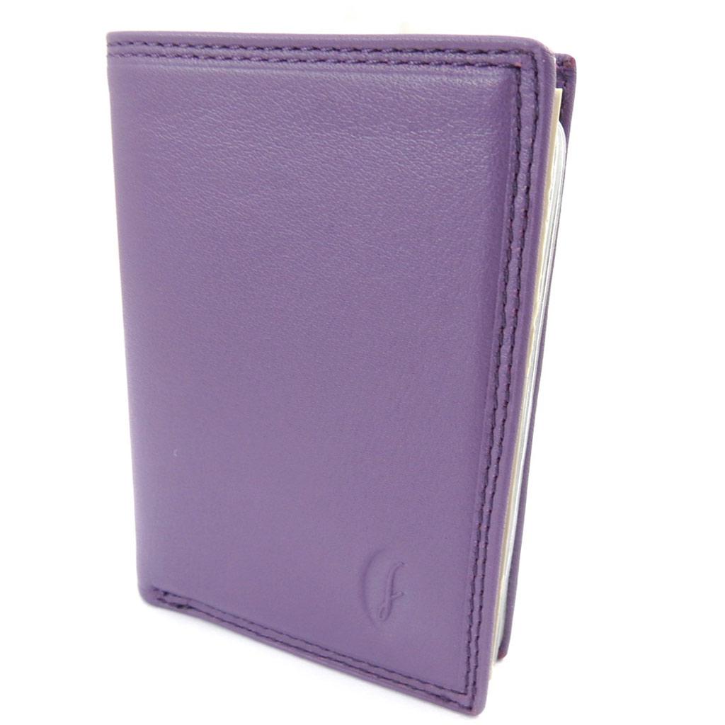 Porte-cartes cuir \'Del Arte\' violet - 105x75 cm - [K1546]