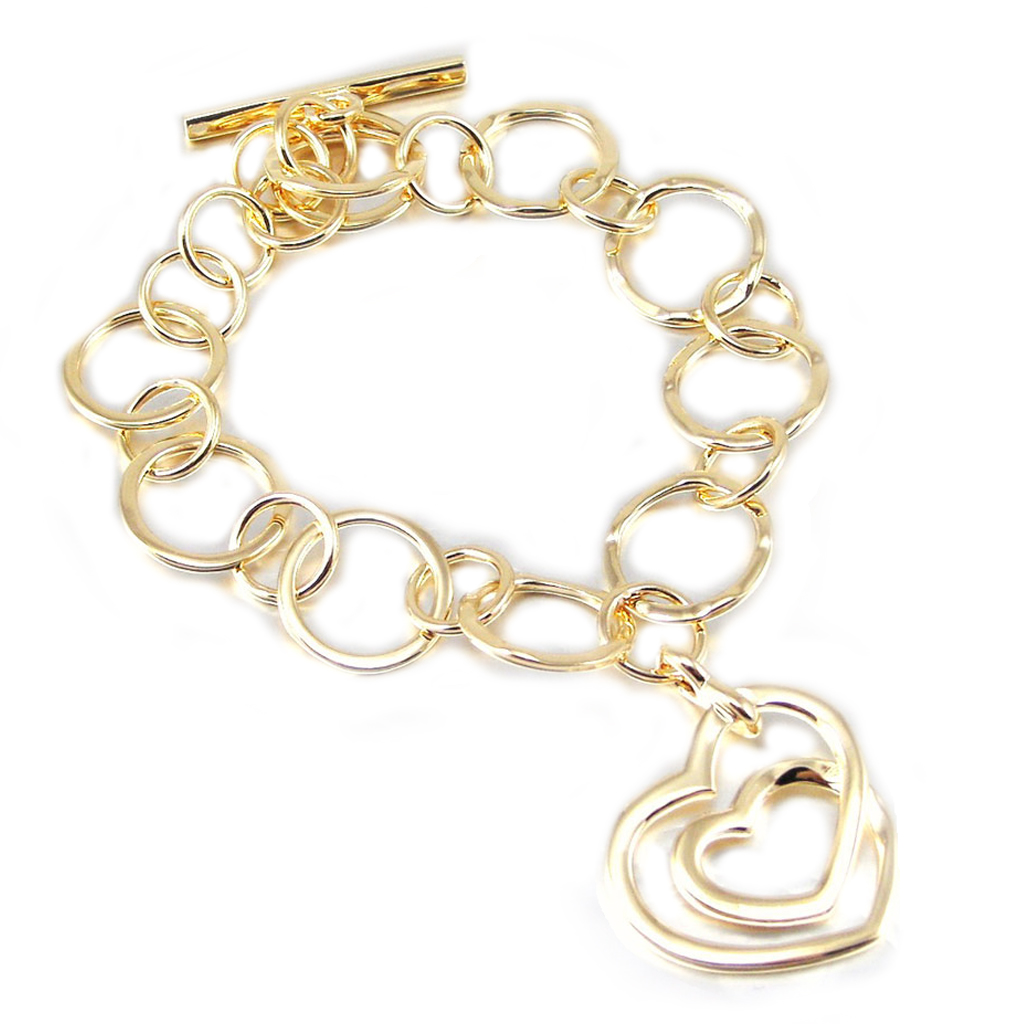 Bracelet Plaqué Or \'Love\'  - [F6689]