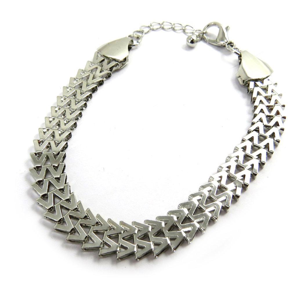 Bracelet \'Chorégraphie\' argenté  - [M1947]