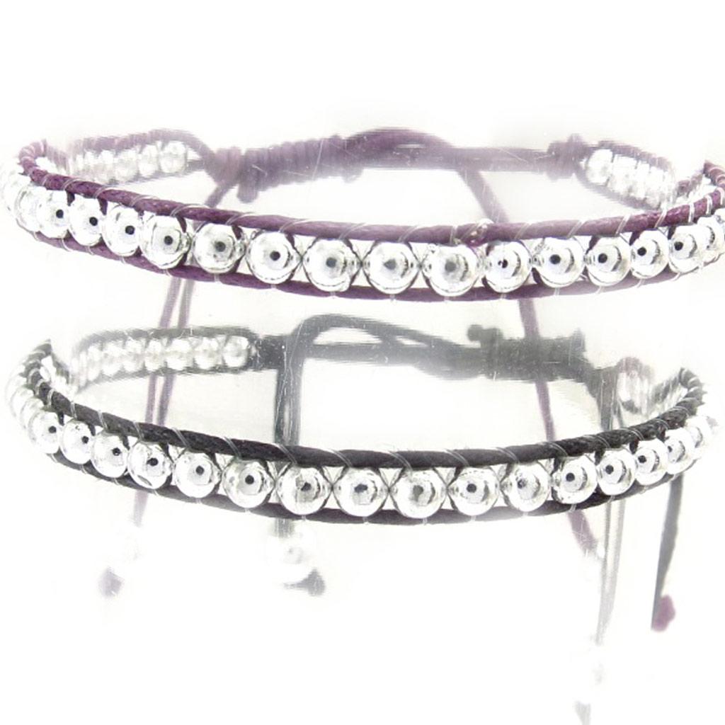 2 bracelets \'Kilimanjaro\' violet noir - [K2509]