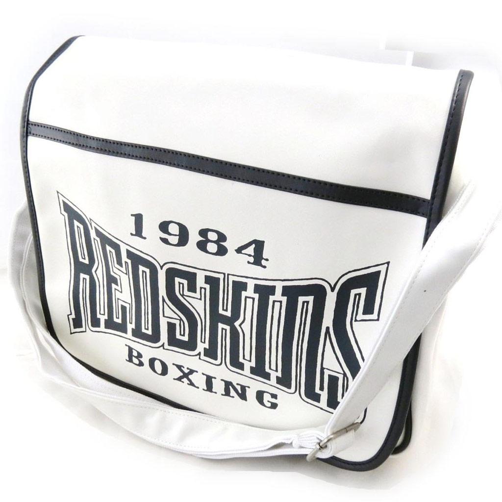 Besace \'Redskins\' blanc - 36x31x85 cm - [J3001]