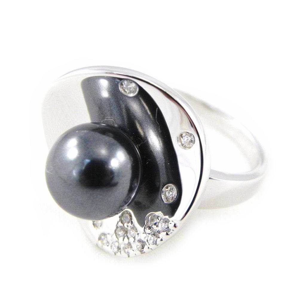 Bague \'Sissi\' gris argenté - [H3831]