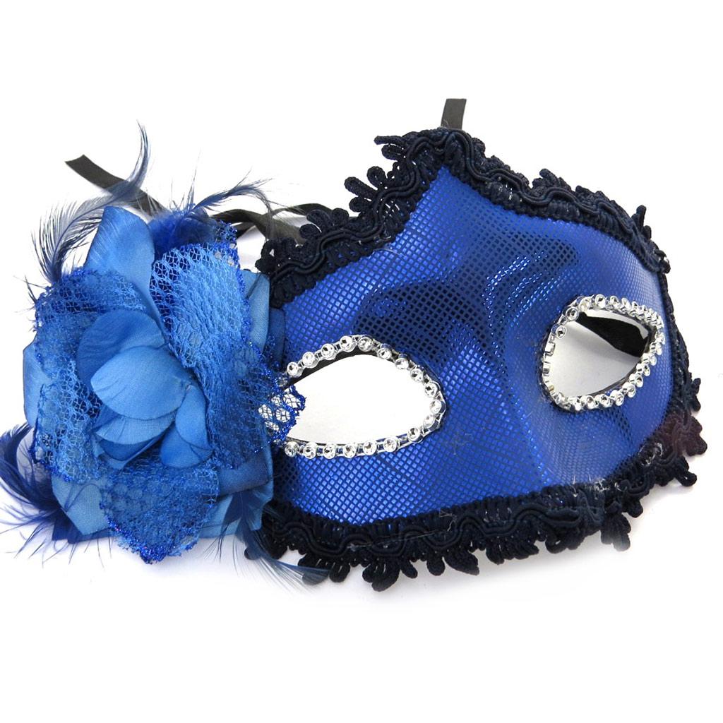 Masque créateur \'Carnaval de Venise\' bleu - [M2246]