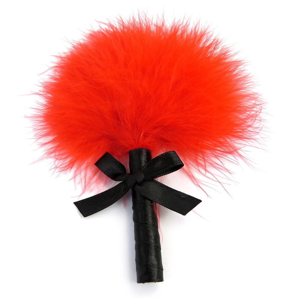 Plumeau \'Kika\' rouge (16 cm) - [M2417]