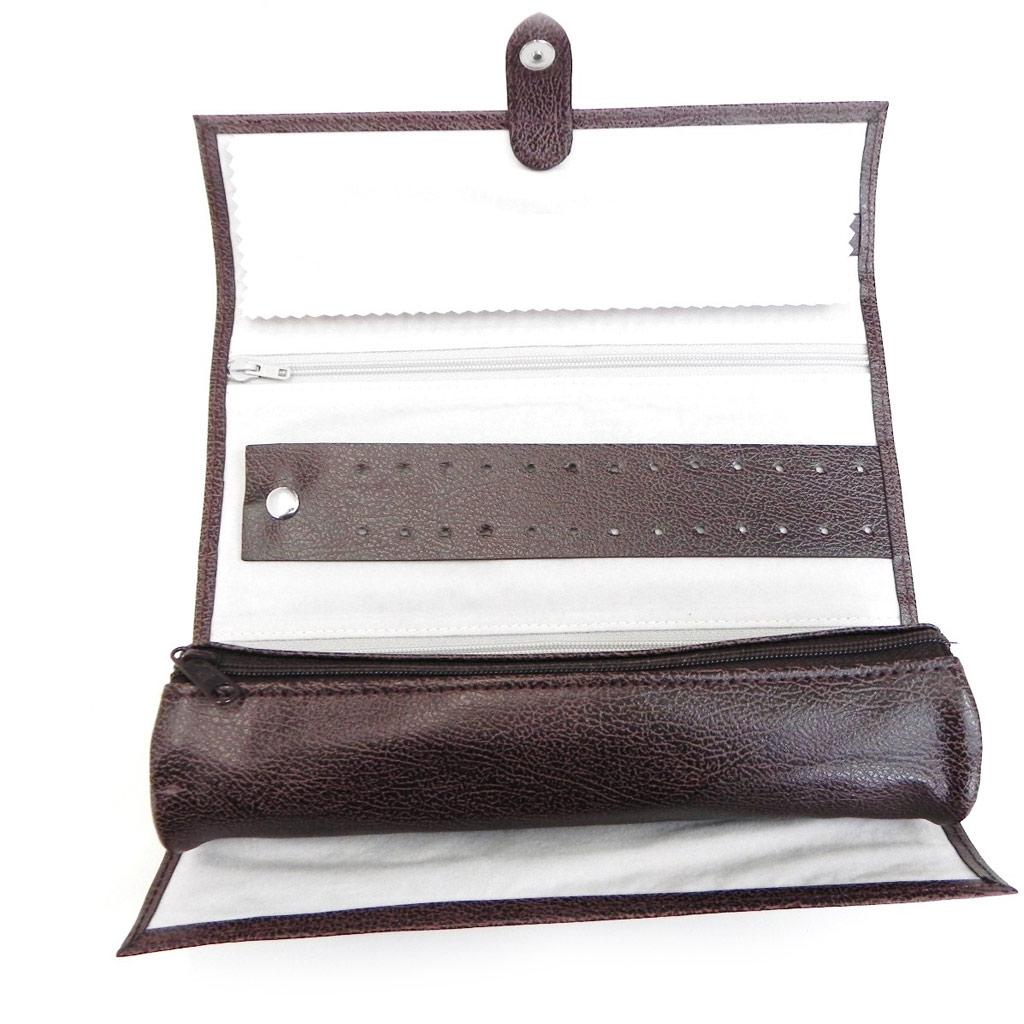 Trousse à bijoux de Voyage \'Complice\' marron chocolat - [H4034]