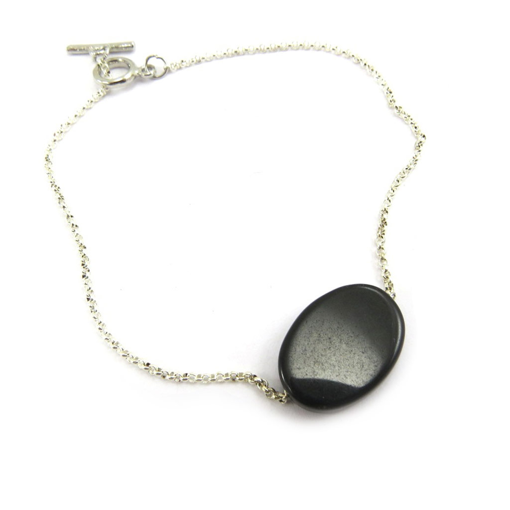 Bracelet \'Minéralia\' noir - [G2913]