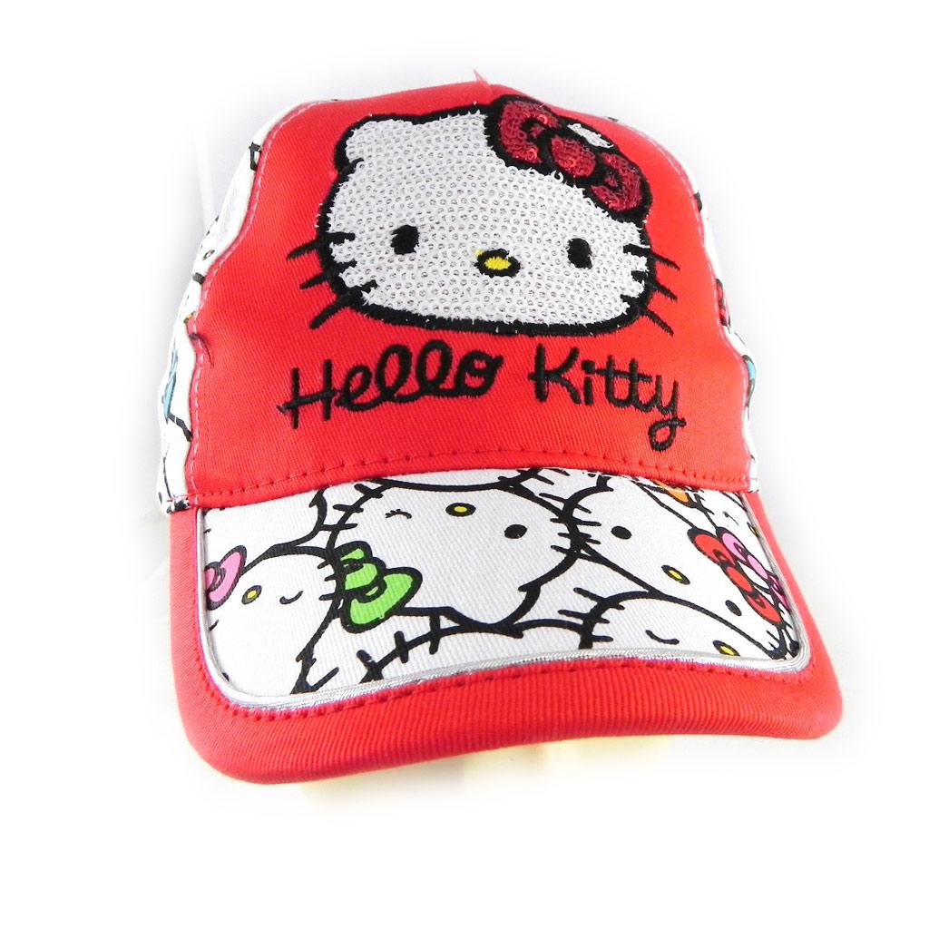 Casquette Enfant \'Hello Kitty\' rouge - [H4328]