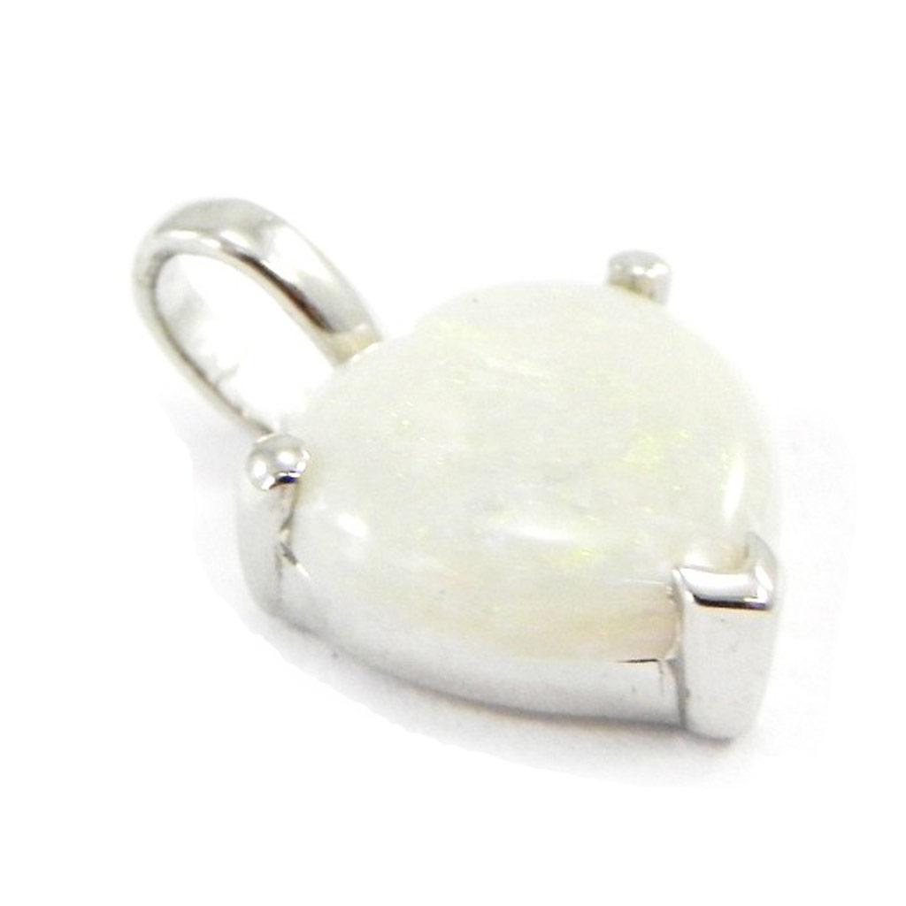 Pendentif Argent \'Déesse Opale\' blanc - [E8668]