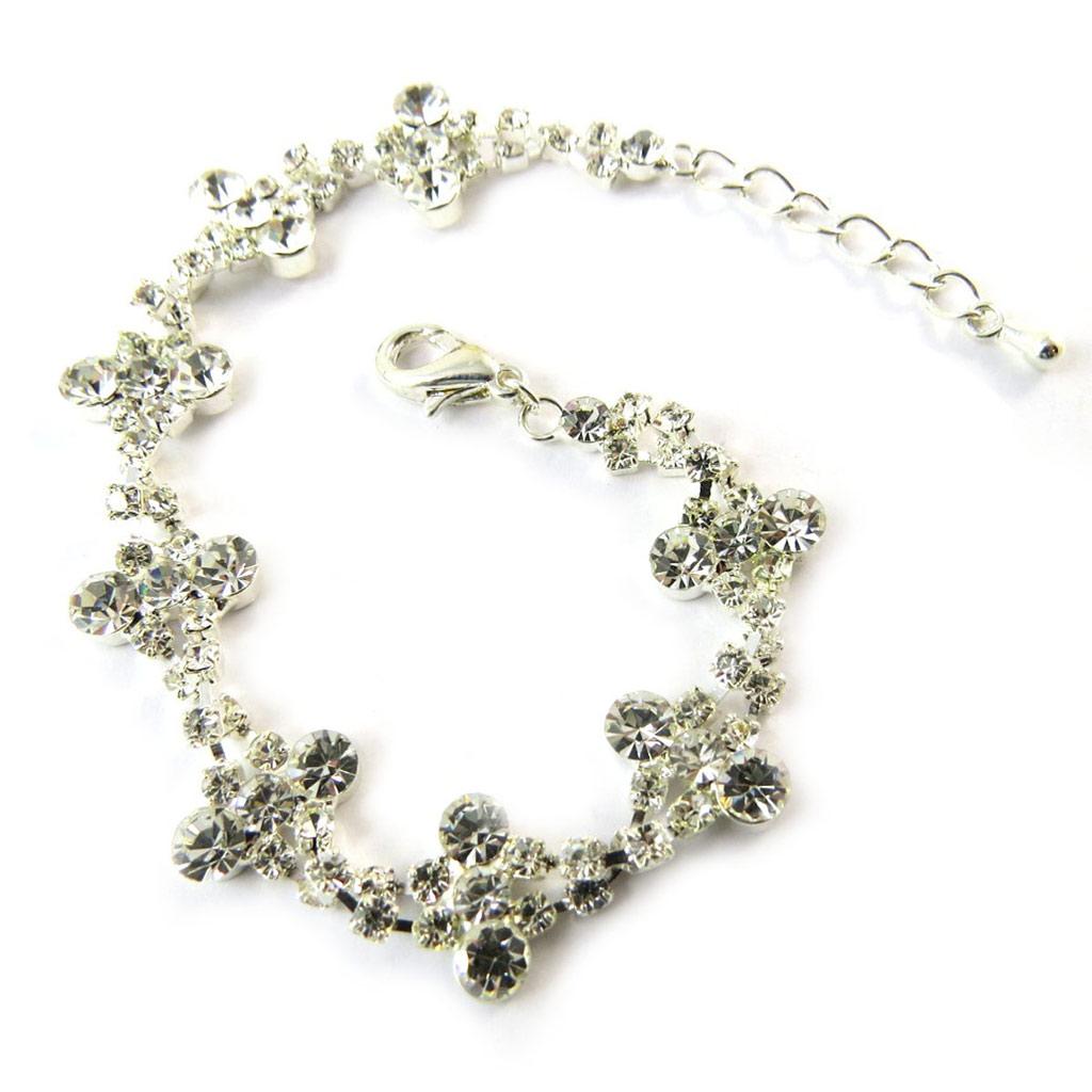 Bracelet Cristal \'Déesse\' Blanc  - [F7993]