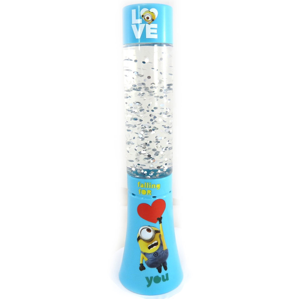 Lampe led paillettes \'Minions\' turquoise (Falling for you) - 33 cm - [M2672]