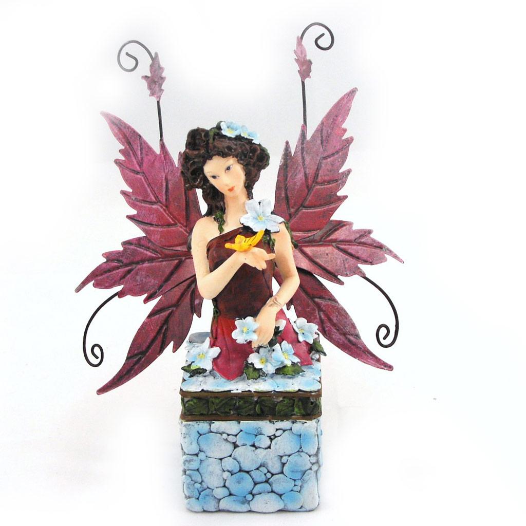Boite à bijoux \'Fairy Dreams\' bleu rose - [G3281]