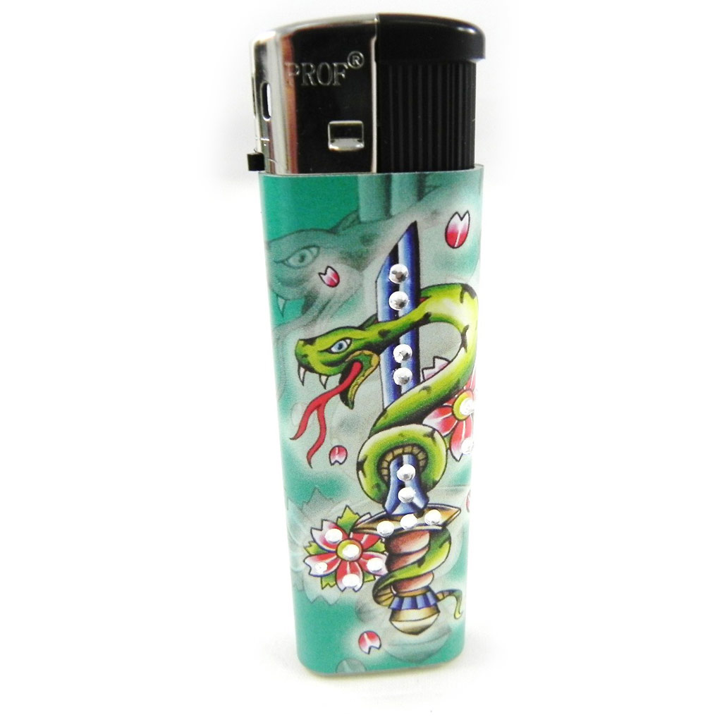 Briquet \'Love Tatouage\' strass - [H4387]