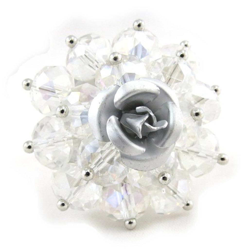 Bague \'Mineralia\' blanc - [J3557]