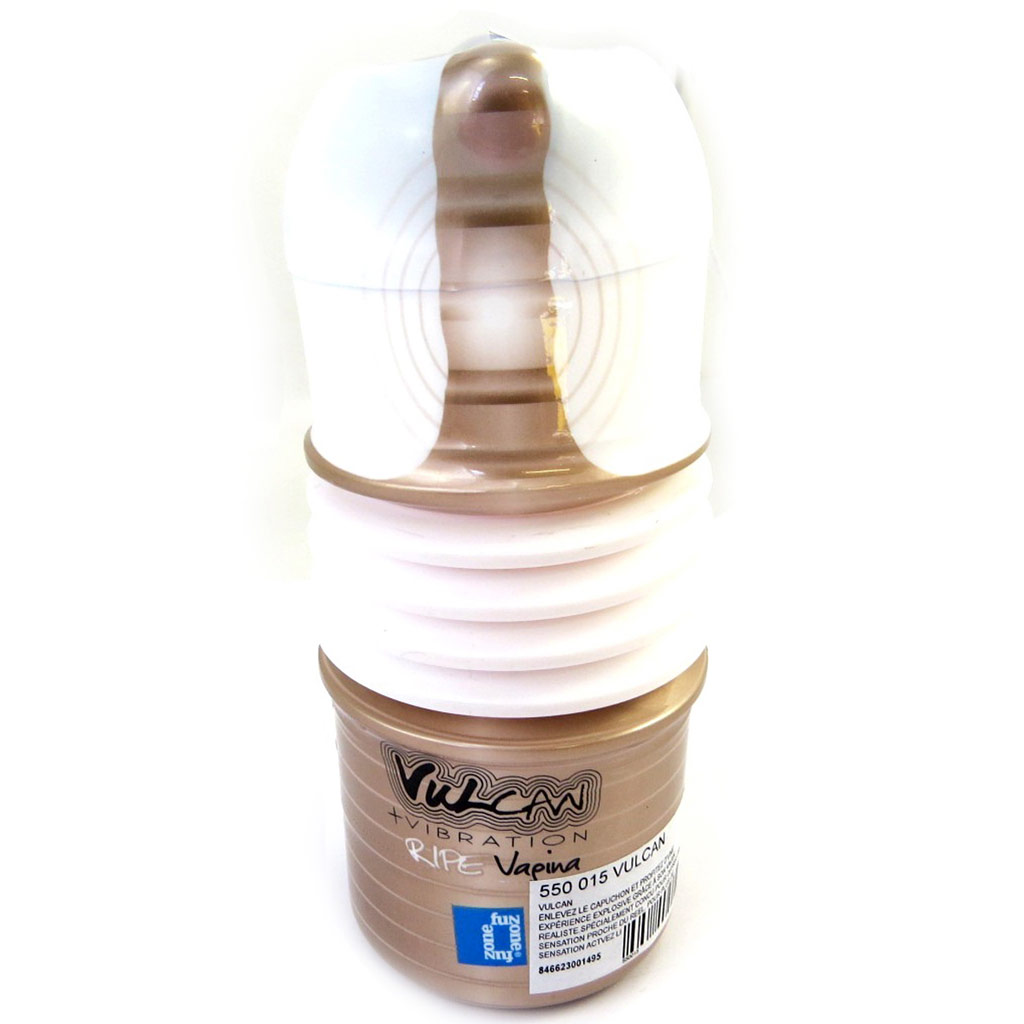 Masturbateur \'Vulcan\' blanc taupe (Ripe Vagina Vibrating) - [M2864]