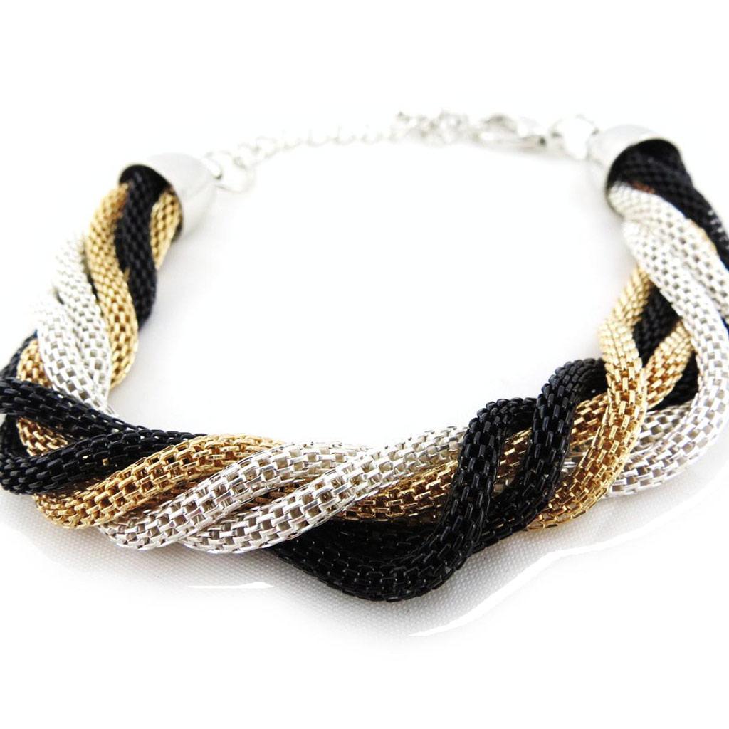 Bracelet \'Chorégraphie\' 3 tons  - [J3638]