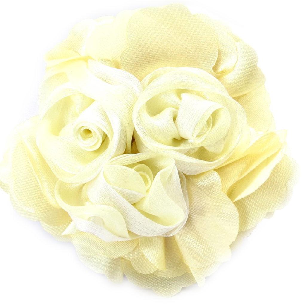 Broche Créateur \'Rose Féérique\' beige  - [K3087]