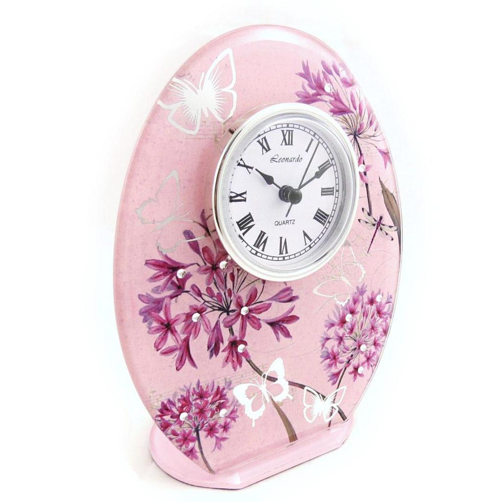 Horloge \'Papillon de Soie\' rose mauve - [J3776]