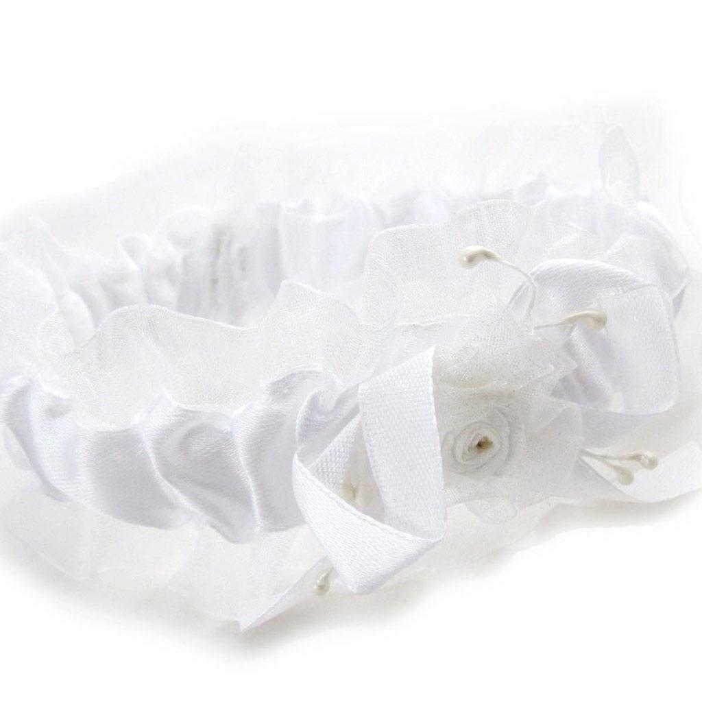 Jarretière \'Angelique\' blanc - [J3782]