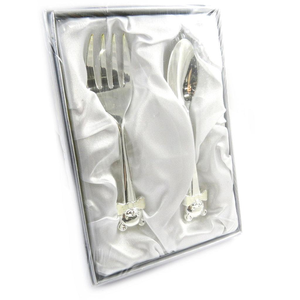 Cadeau de Naissance \'1ers Instants\' couverts (2 pièces) - [M3155]