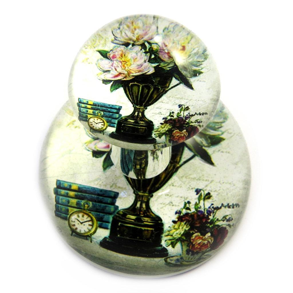 Flacon de parfum \'Belle Epoque\' vert beige - [M3168]