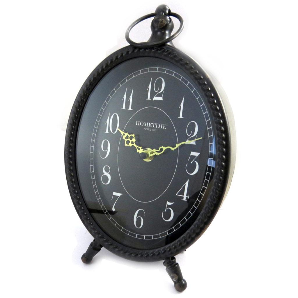 Horloge métal \'Vintage Design\' noir - [M3205]