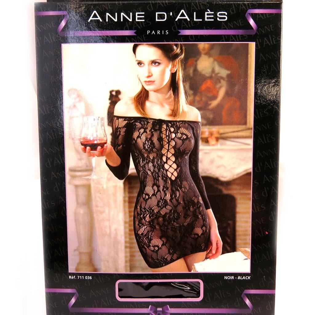 Robe sexy \'Scarlett\' noir (XL) - [M3322]