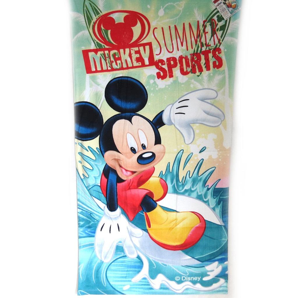 Drap de plage \'Mickey\' bleu océan  (70x140 cm) - [M3347]