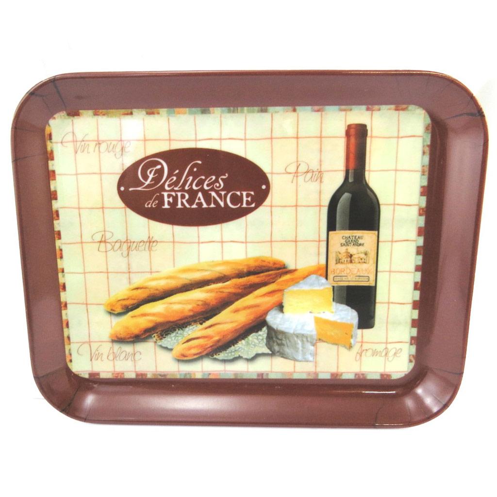 Petit plateau \'Terroir Français\' beige marron(15x20 cm) - [M3373]
