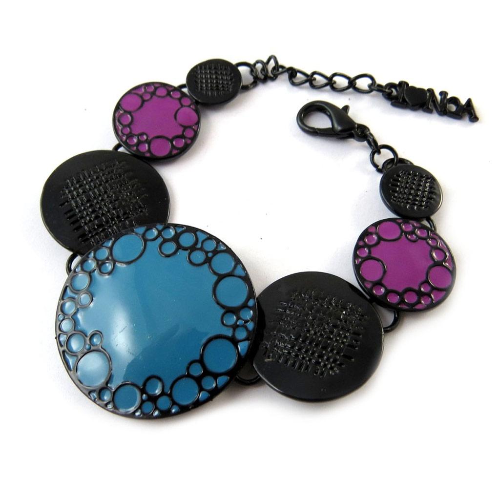 Bracelet Créateur \'Princesse Pop\' bleu violet - [G5532]