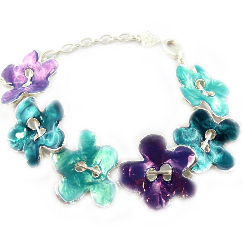 Bracelet Créateur \'Flora\' bleu violet - [F9471]