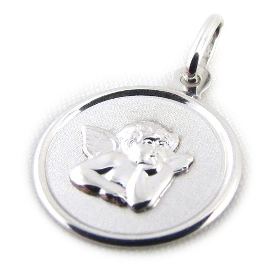 Pendentif \'Petit Ange\' rhodié (Or - 9 carats) - [J4011]
