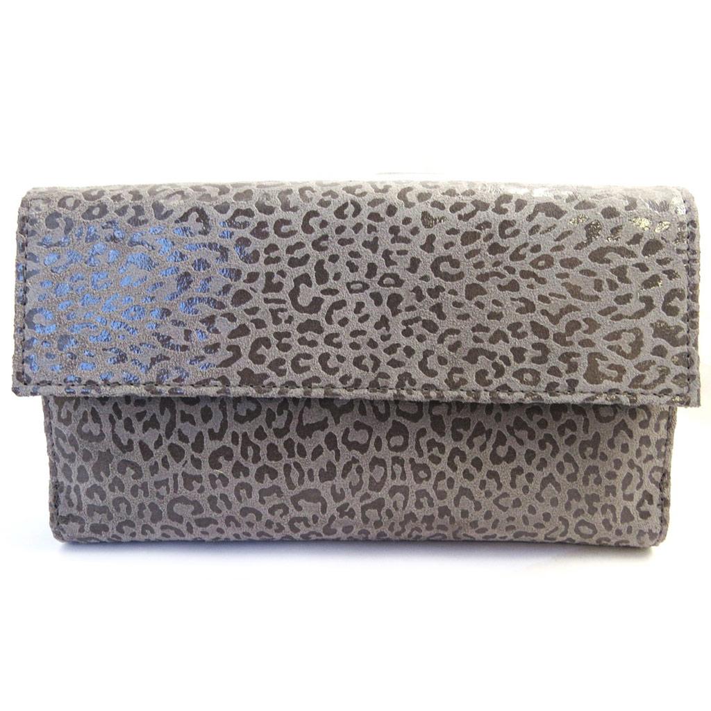Compagnon Cuir \'Frandi\' gris graphite (léopard) - [M3476]