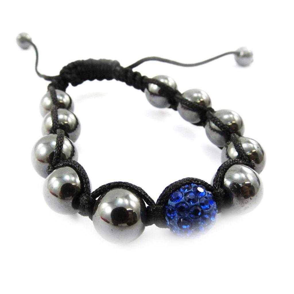 Bracelet ethnique \'Shambhala\' bleu - [J4058]