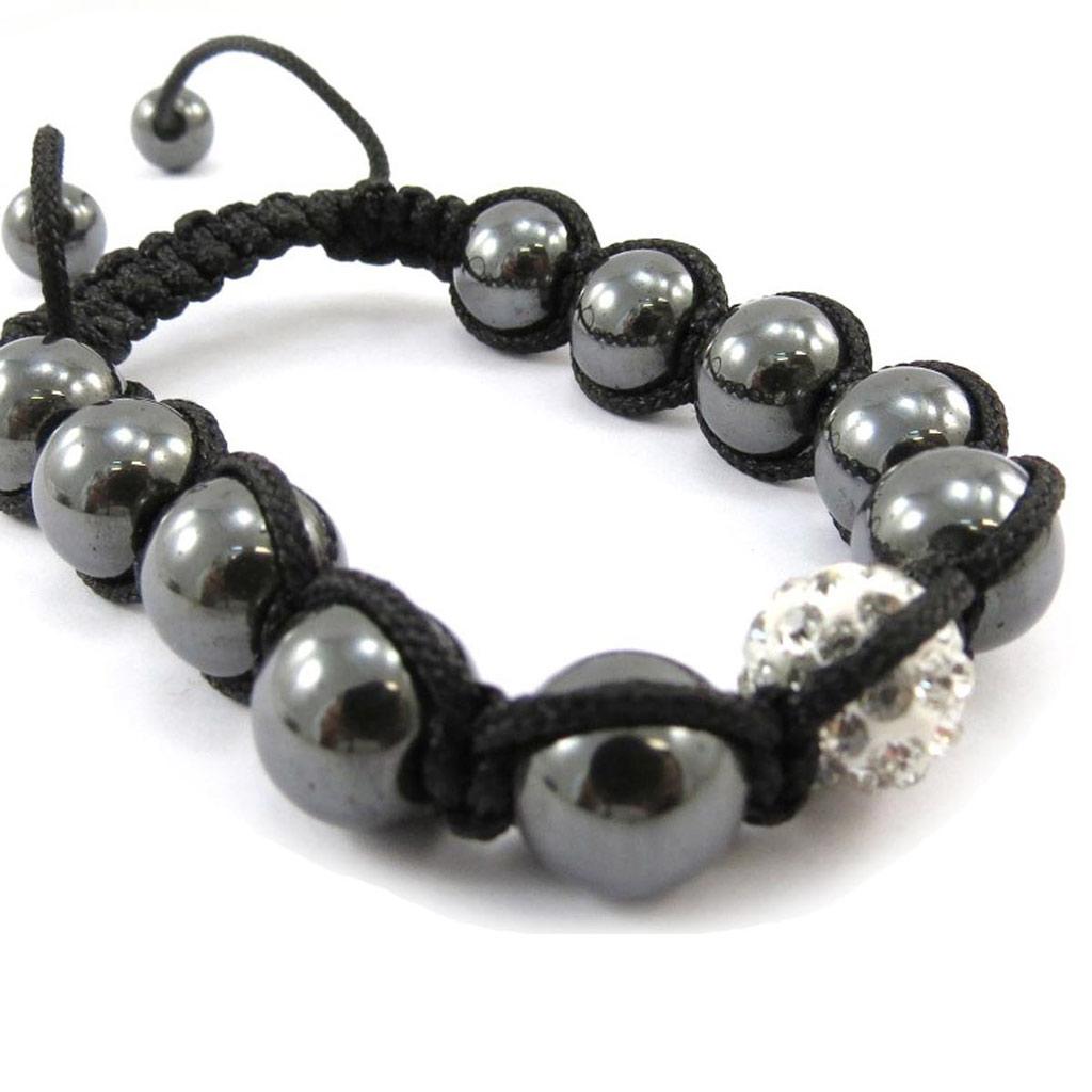 Bracelet ethnique \'Shambhala\' blanc - [J4060]