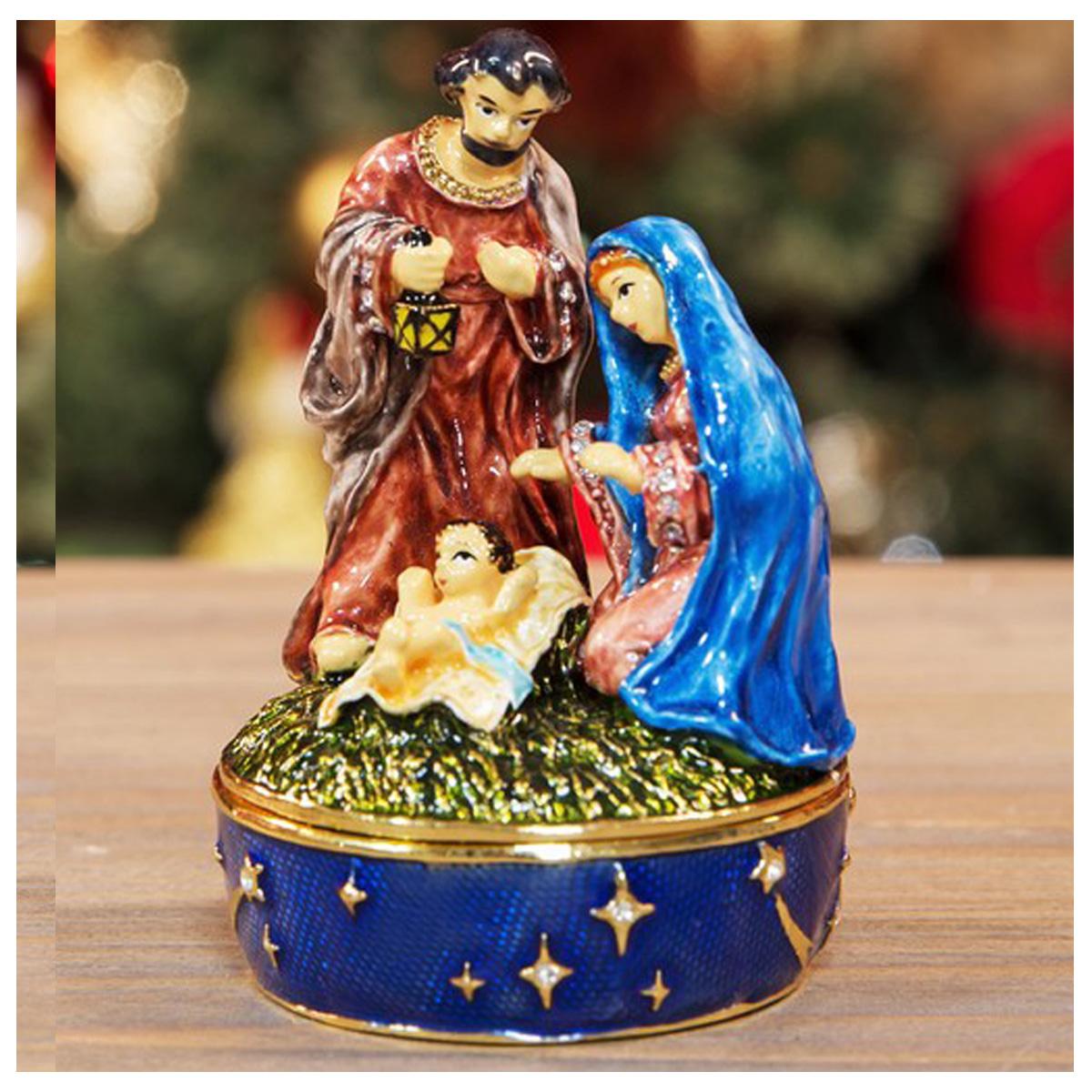 Coffret à Bijoux \'Nativité\' multicolore - 8 cm - [R1197]
