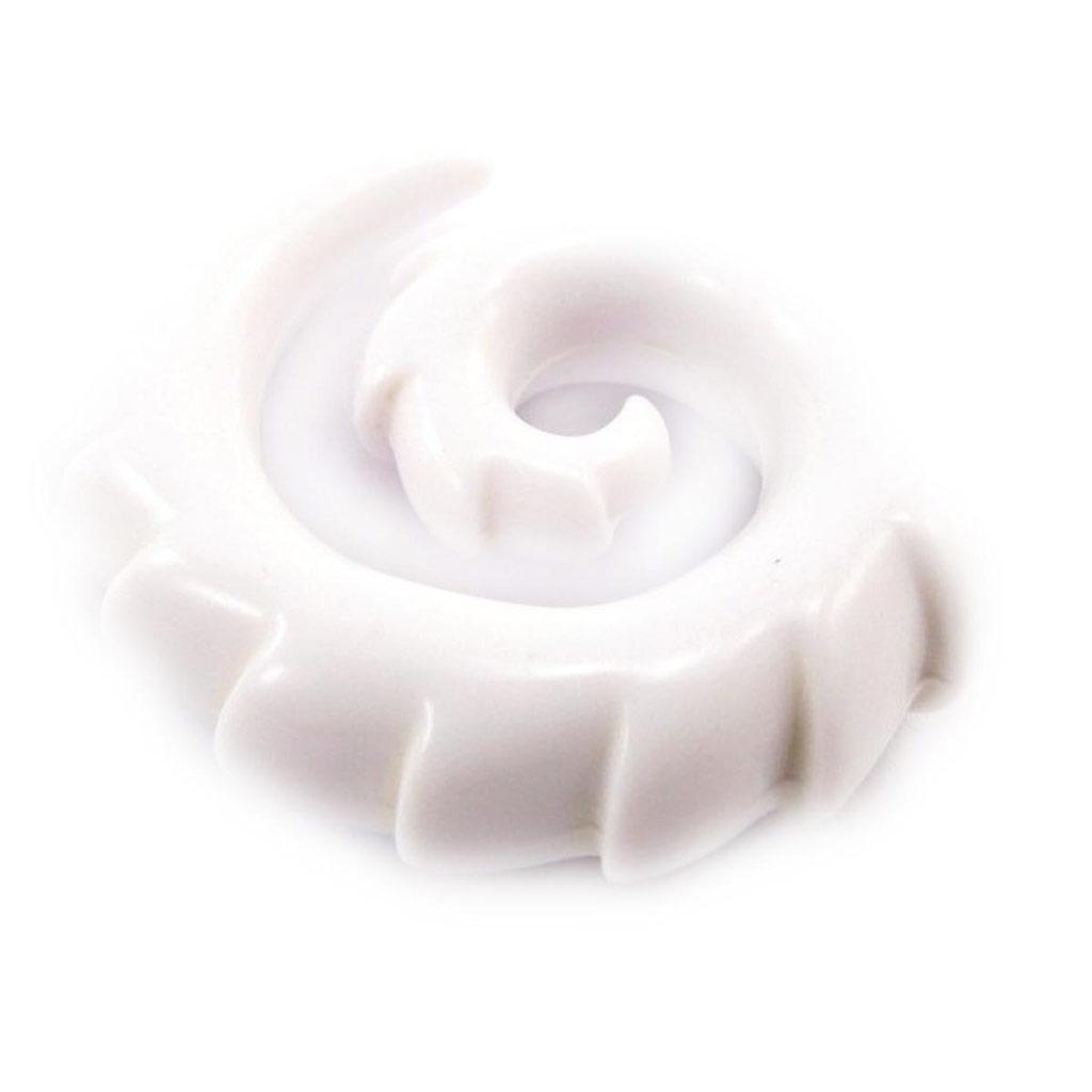 Spirale acrylique blanc 10 mm - [J4108]