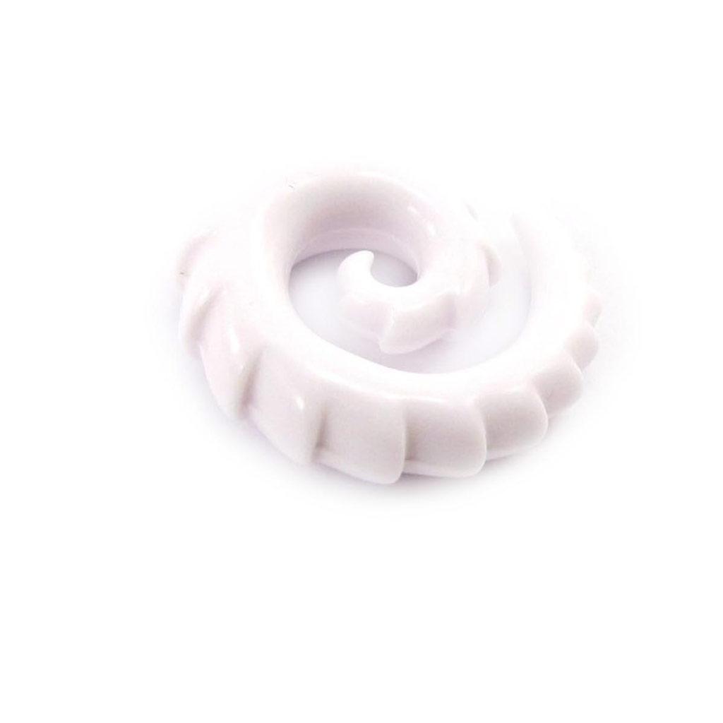 Spirale acrylique blanc 8 mm - [J4114]