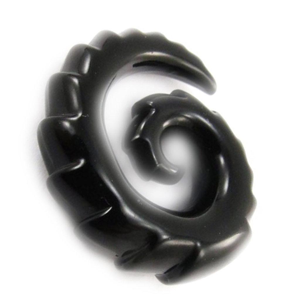 Spirale acrylique noir 8 mm - [J4119]